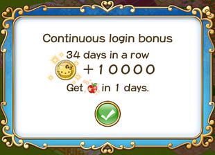 Login bonus day 34