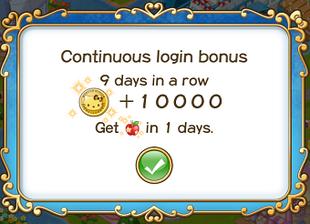 Login bonus day 9