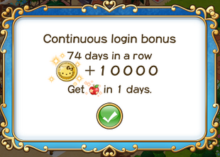 Login bonus day 74