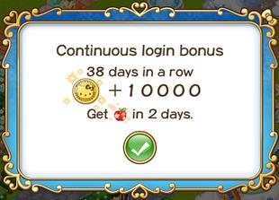 Login bonus day 38