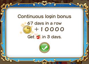 Login bonus day 67