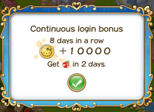 Login bonus day 8