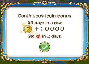 Login bonus day 43