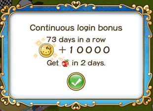 Login bonus day 73