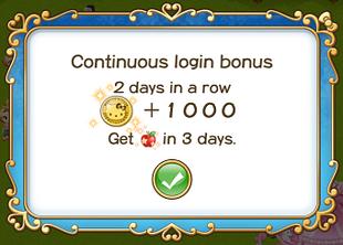 Login bonus day 2