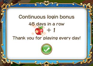 Login bonus day 45