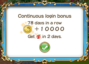Login bonus day 78