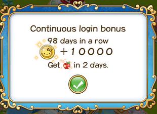 Login bonus day 98