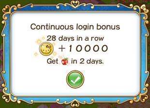 Login bonus day 28