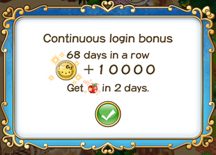 Login bonus day 68