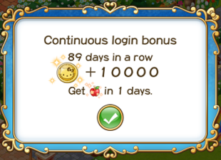 Login bonus day 89