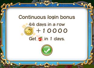 Login bonus day 44