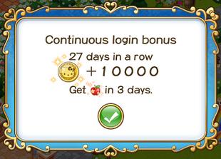 Login bonus day 27