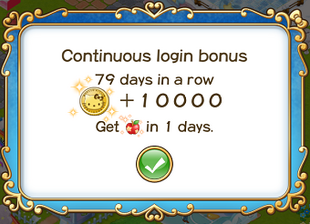Login bonus day 79