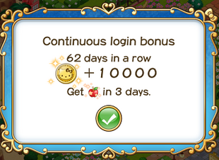Login bonus day 62