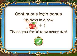 Login bonus day 95
