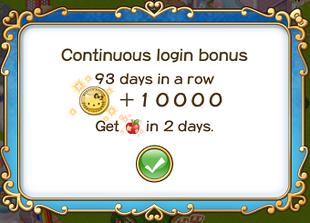 Login bonus day 93