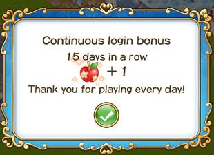 Login bonus day 15