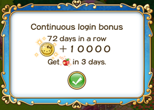 Login bonus day 72