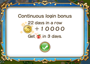 Login bonus day 22