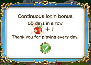 Login bonus day 65