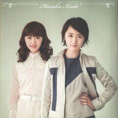 Kudo Haruka como Frol (izquierda) y Tada (derecha)