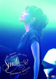 Abe Natsumi Summer Live 2014 ~Smile...♥~ Birthday Special dvd front cover