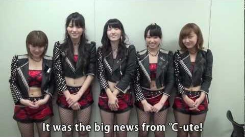 Announcement from ℃-ute (04 03 2013)