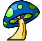 Blue Mushroom Small