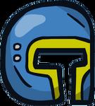 Blue Face Helmet