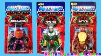 He-Man and The Masters of The Universe Tung Lashor King Hiss Rattlor Mattel Retro Toys and Cartoons