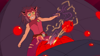 Catra rips at the robotic spiders guts