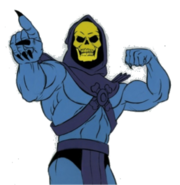 Transparent skeletor