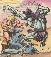 He-man disarms Skeletor