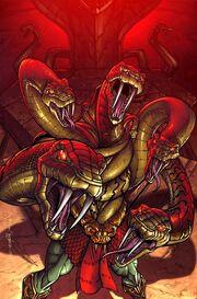 King Hiss mass of serpents
