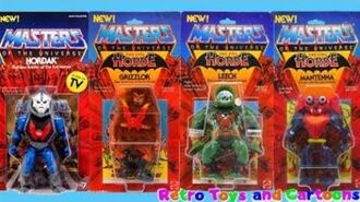 He-Man and The Masters of The Universe Hordak Grizzlor Leech Mantenna Mattel Retro Toys and Cartoons