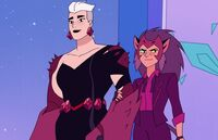 Scorpia (She-Ra and the Princesses of Power) and Catra (She-Ra and the Princesses of Power) from Princess Prom 001