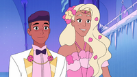 Bow and Perfuma smiling as they join Glimmer and Adora
