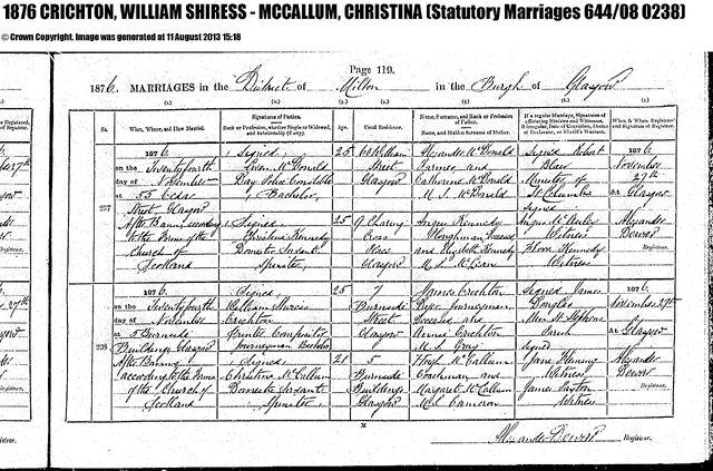 File:CRICHTON, WILLIAM SHIRESS - MCCALLUM, CHRISTINA Marriage ScotlandsPeople.808A1661-D8CE-4C31-B120-2F1045ACDF60-M1876 644 08 0119Z.jpg