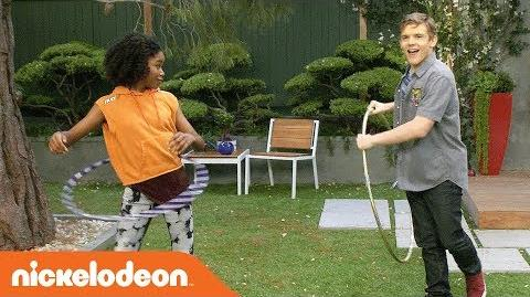 Riele & Sean Answer REAL Fan Questions While Hula Hooping 😊 Henry Danger Nick