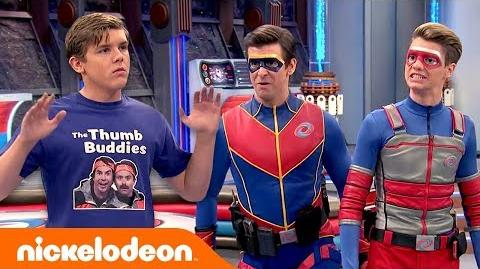 Kid Danger & Captain Man 🆚 The Thumb Buddies Henry Danger Nick-2