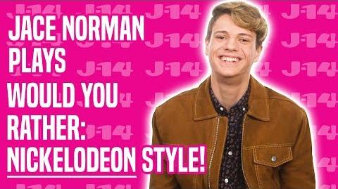Jace Norman Plays Would You Rather Nickelodeon Style