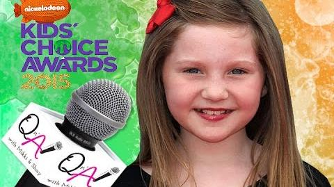 "ELLA ANDERSON NICKELODEON'S ""HENRY DANGER"" Kids Choice Awards Gift Suite 2015"