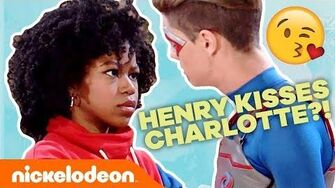 Henry Kisses Charlotte?! 😮 CHENRY Moments Henry Danger