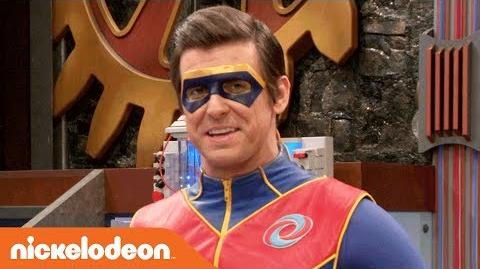 Captain Man Tries Out New Catchphrases w Charlotte Henry Danger Nick