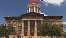 City Hall decorated for christmas