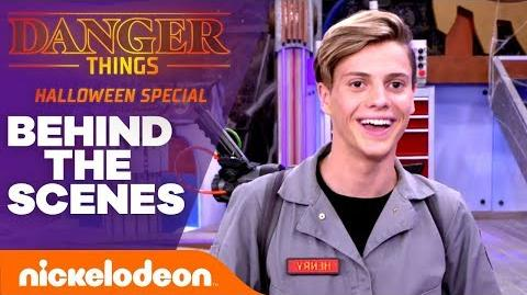 Go BTS w Jace Norman & Riele Downs on the Halloween Special 'Danger Things' Nick
