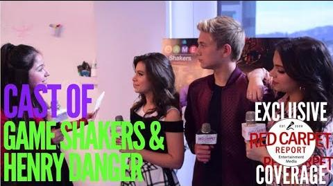 Talking to cast of Nickelodeon's Game Shakers & Henry Danger DangerGames about crossover episode