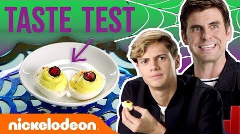 Jace Norman & Cooper Barnes Taste Test🍬Halloween Treats NickStarsIRL
