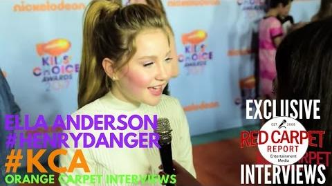 Ella Anderson HenryDanger interviewed at 2017 Kid's Choice Awards Red Carpet KCA